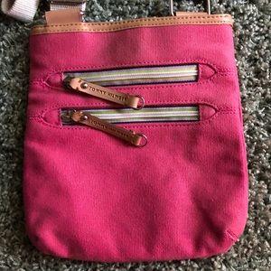Tommy Hilfiger women's small pink crossbody bag